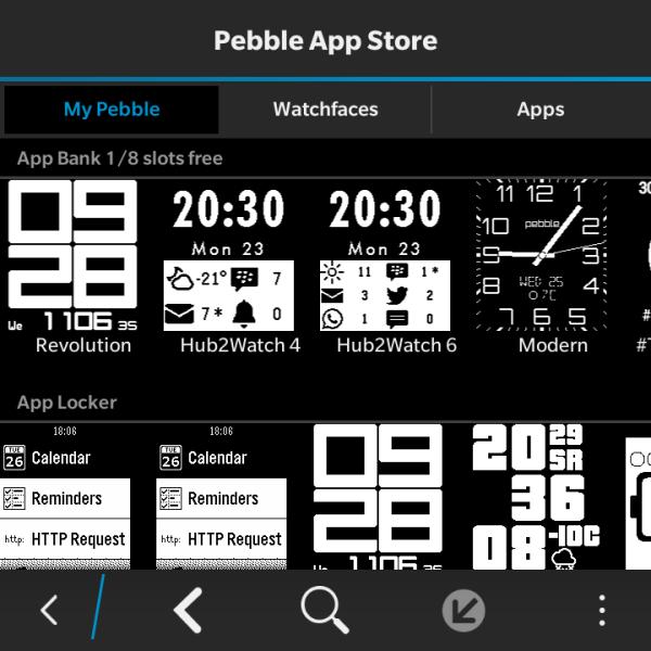 Pebble using Hub2Watch_009