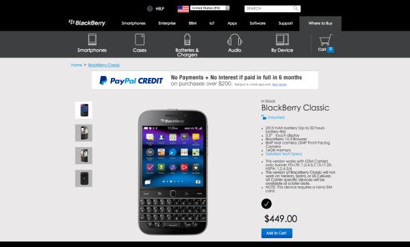 ShopBlackBerry Online Store - BlackBerry Classic